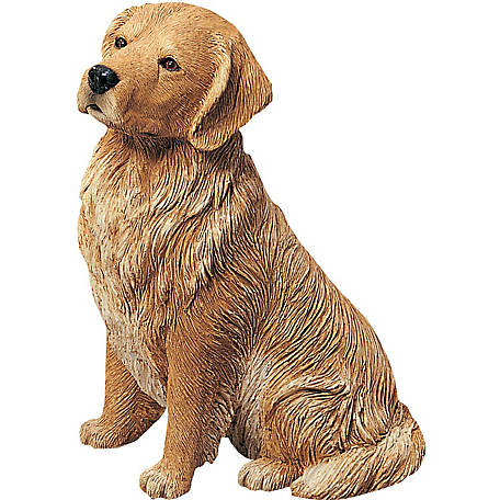 Sandicast Original Size Golden Retriever Dog Sculpture