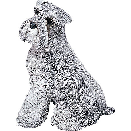 Sandicast Original Size Gray Schnauzer Dog Sculpture