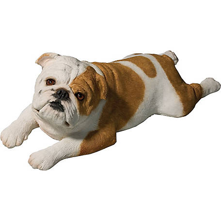Sandicast Original Size Fawn Bulldog Dog Sculpture