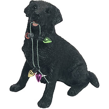 Sandicast Black Labrador Retriever Dog Christmas Tree Ornament