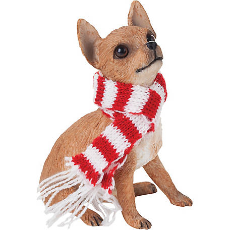 Sandicast Tan Chihuahua Dog Christmas Tree Ornament