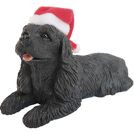 Sandicast Black Cocker Spaniel Dog Christmas Tree Ornament