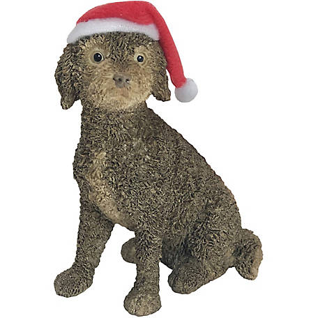 Sandicast Brown Labradoodle Dog Christmas Tree Ornament