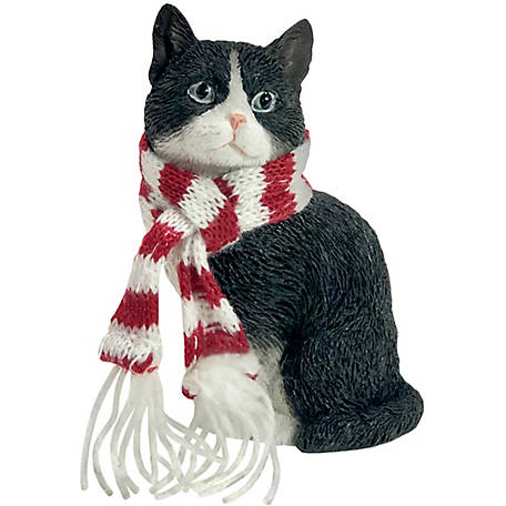Sandicast Tuxedo American Shorthair Cat Christmas Tree Ornament