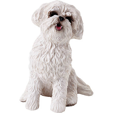 Sandicast Small Size Bichon Frise Dog Sculpture