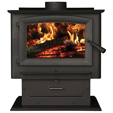 US Stove 2,500 sq. ft. Magnolia Pedestal Wood Stove with Blower, US2500E-BP