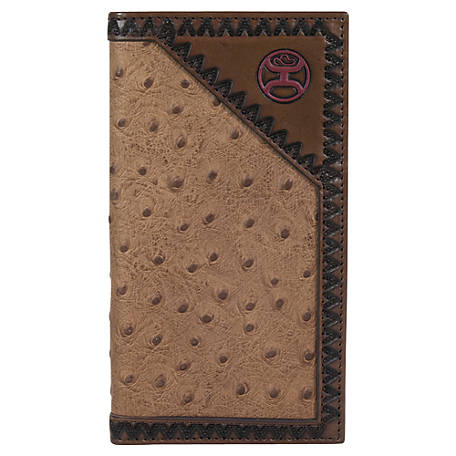 Hooey Rodeo Wallet, Tan Ostrich