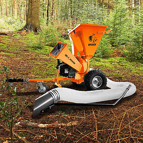 DK2 Power 3 in. 7HP Cyclonic Chipper Shredder Vacuum with KOHLER CH270 Command Pro commercial Gas Engine - OPC503V
