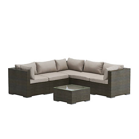 Patio Sense Sino Wicker Sofa Set, 62173