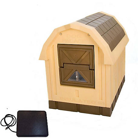 Dog Palace Premium Insulated Dog House with Heating Pad, DP10-WH