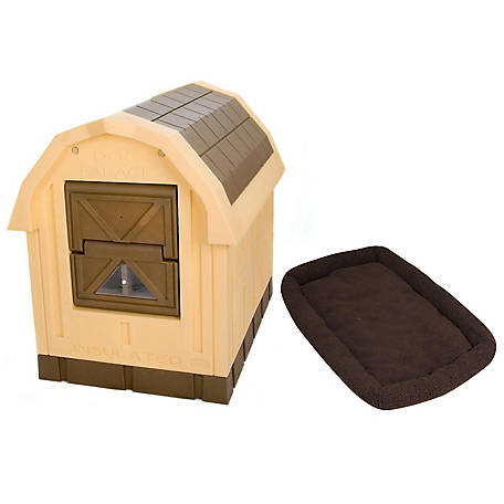 Dog Palace Premium Insulated Dog House with Fleece Bed, DP10WB