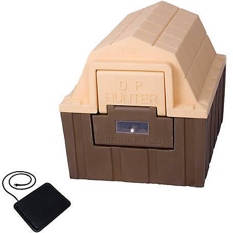 Dog Palace DP Hunter Premium Insulated Dog House with Heating Pad, DH30-WH