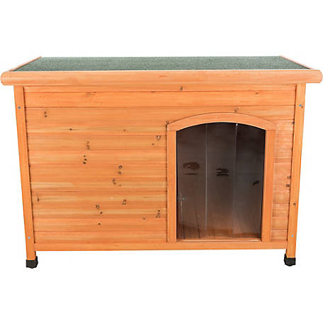 TRIXIE Pet Products Natura Insulated Flat Roof Club Dog House, Large, 39518