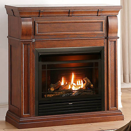 Duluth Dual Fuel Ventless Gas Fireplace, Ventless Natural Gas Fireplace With Mantle