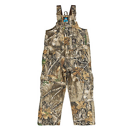 Berne Boys' Kid's Camouflage Insulated Bib Overall, BB21