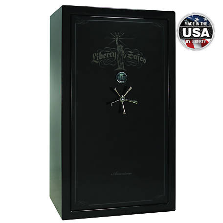 Liberty Safe American 50, 50 Gun, 90 Minute Fire Rating, E-Lock Safe, AS50-BKG-BC-E