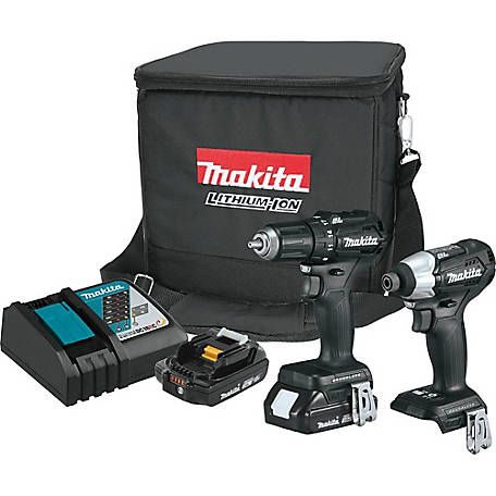 Makita 18V Lithium Ion Sub Compact 2 Piece Brushless Cordless Combo Kit 2.0AH, CX200RB