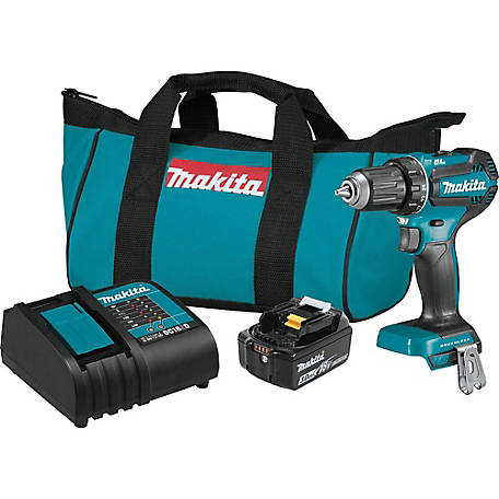 Makita 18V 1/2 in. Cordless Brushless Driver Drill Kit, XFD131