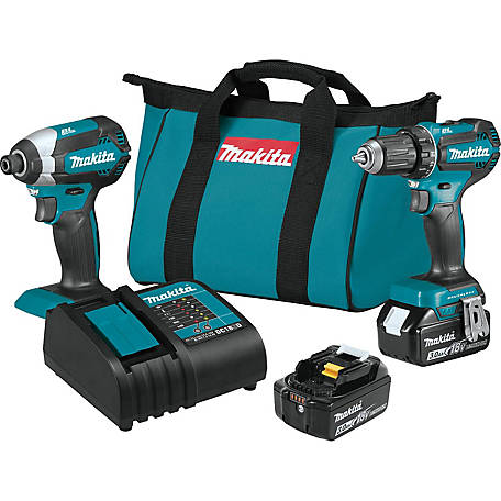 Makita 18V Brushless Cordless 2 Piece Combo Kit 3.0AH, XT281S