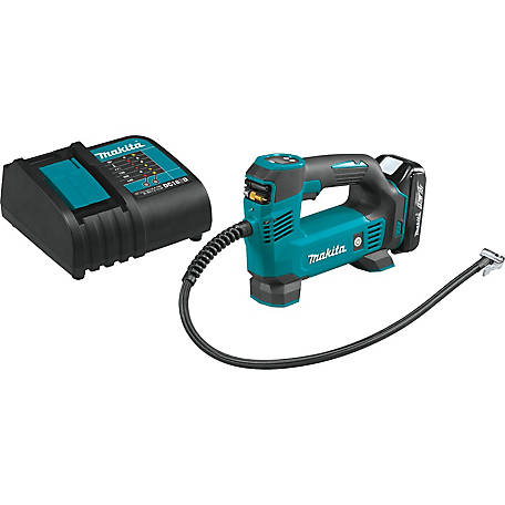Makita 18V Lithium Ion Cordless Inflator Kit, 1.5AH, DMP180SYX