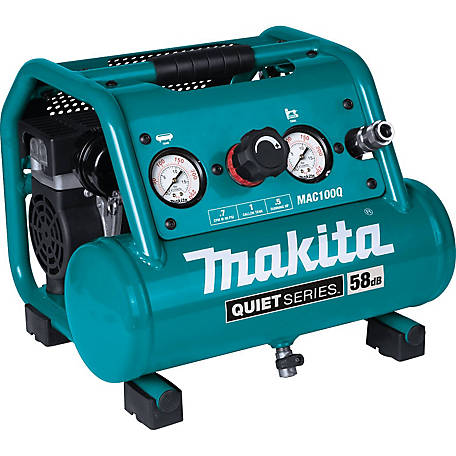 Makita 1/2 HP 1 gal. Quiet Electric Air Compressor, MAC100Q