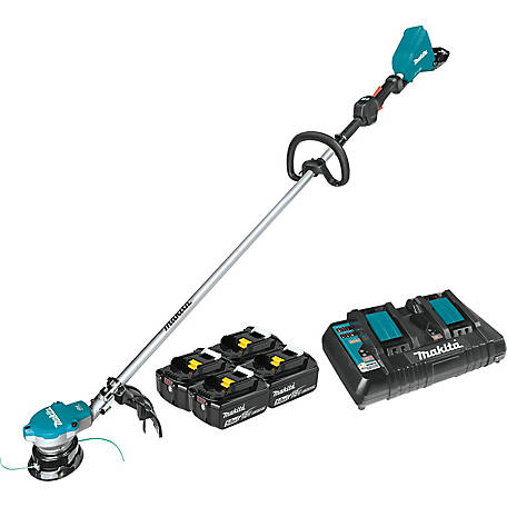 Makita 18Vx2 36V Cordless String Trimmer Kit with 4 Bl1850B 5.0AH Batteries, XRU15PT1
