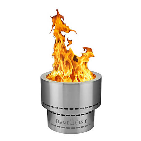 Flame Genie 19 In Pellet Fire Pit Stainless Steel Fg 19 Ss At Tractor Supply Co