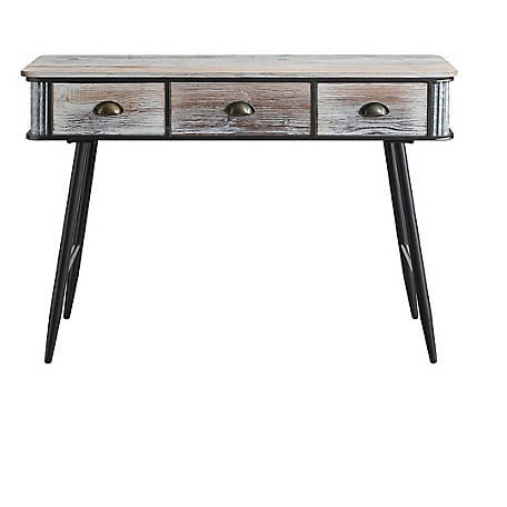 4D Concepts Alta Collection Desk, Entry Table with 3 Drawers, 191014