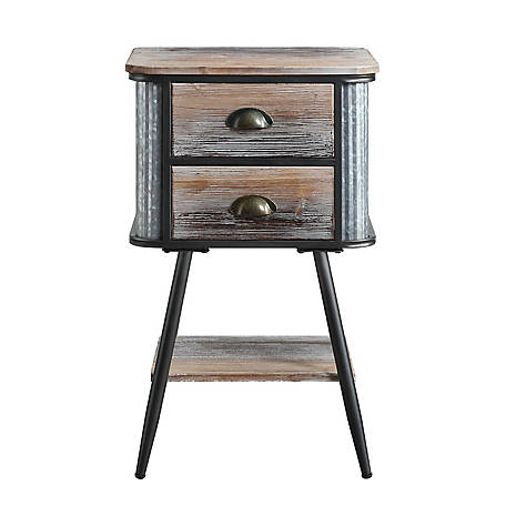 4D Concepts Alta Collection Side Table with Drawers, 191035