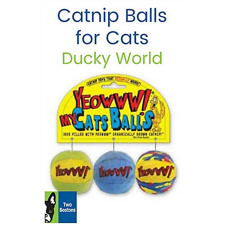 Ducky World Yeowww! 2 in. My Cats Balls Catnip Toys, 2000409
