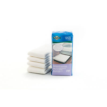 PetSafe Deluxe Litter Box Replacement Pee Pad 4 Pack, PAC00-16693