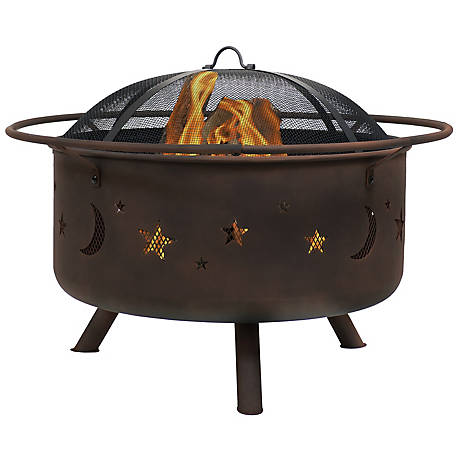 Sunnydaze Decor 30 In Cosmic Fire Pit With Cooking Grill Spark Screen Nb Ms201 At Tractor Supply Co