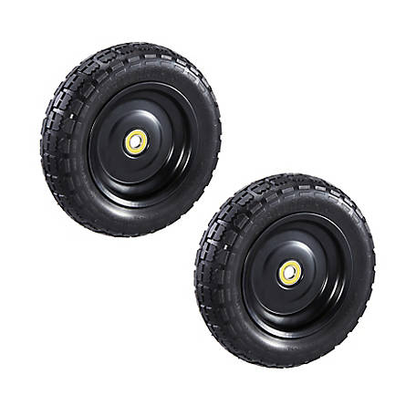 Gorilla Carts 10 in. No Flat Replacement Tires, 2 Pack, GCT-10NF