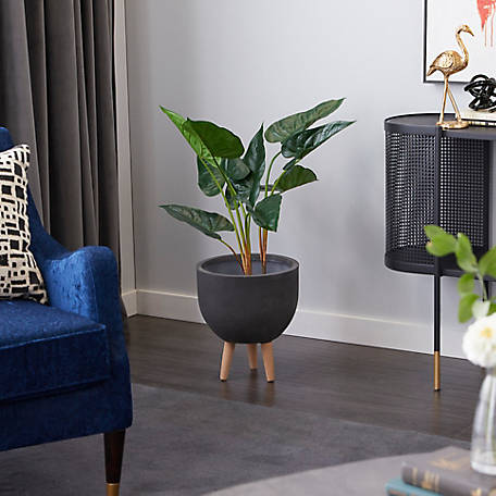 Harper Willow Tall Artificial Anthurium Leaf Potted Plant 88281 At Tractor Supply Co