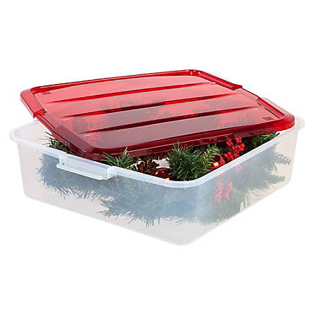 Iris Usa Wreath Storage Box 20 Inch 3 Pack 585342 At Tractor Supply Co