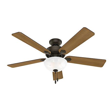 Hunter Swanson Ceiling Fan With Led, Menards Bathroom Light Fan