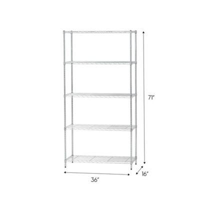 Iris Usa 5 Shelf Adjustable Metal Wire, Adjustable Storage Shelves