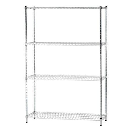Iris Usa Heavy Duty 4 Shelf Adjustable, Adjustable Storage Shelves