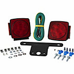 Blazer LED Submersible Square Trailer Light Kit for Trailers Under 80 in. Wide, Pack of 2