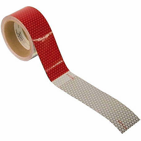 Blazer C285RW 30 ft. Red/White Reflective Conspicuity Tape Roll