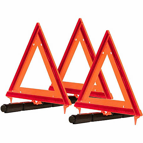 Blazer 7500 Collapsible Warning Triangle, Pack of 3