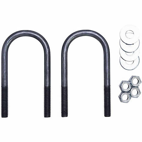 Carry-On Trailer Round Axle U-Bolt Kit, 1/2 in. x 2-3/8 in.
