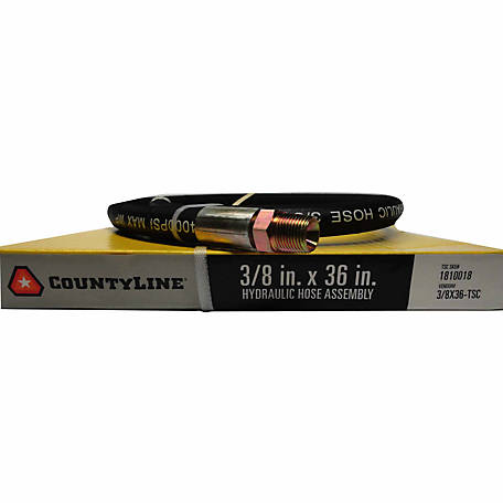 CountyLine 3/8 in. x 36 in., 4,000 PSI Hydraulic Hose