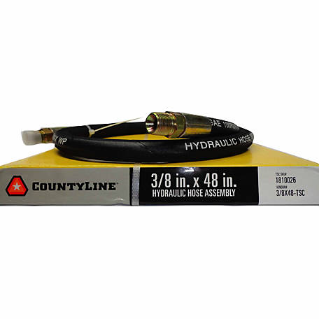 CountyLine 3/8 in. x 48 in., 4,000 PSI Hydraulic Hose