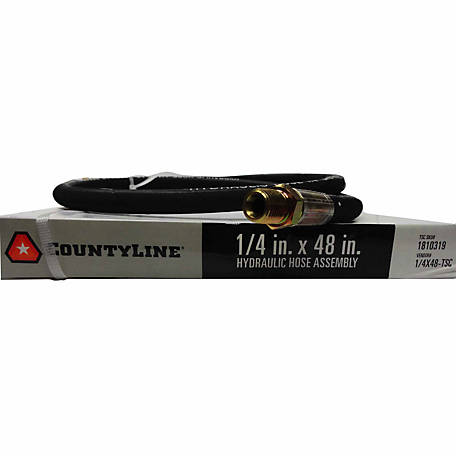 CountyLine 1/4 in. x 48 in., 5,000 PSI Hydraulic Hose