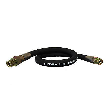 CountyLine 1/2 in. x 24 in., 3,500 PSI Hydraulic Hose