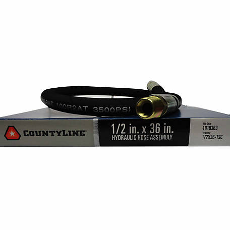 CountyLine 1/2 in. x 36 in., 3,500 PSI Hydraulic Hose