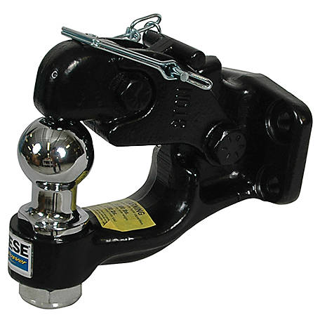Reese Towpower Heavy-Duty Pintle Hook and 1-7/8 in. Ball, Hook Rating 16,000 lb., Ball Rating 6,000 lb., 7411533