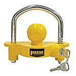 Reese Towpower Universal Coupler Lock, Fits 1-7/8 in., 2 in., and 2-5/16 in. Couplers, Yellow