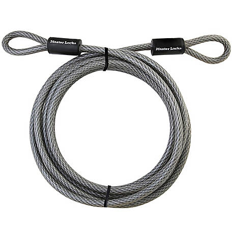 Master Lock Looped End Cable, 15 ft., 72DPF